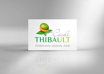 Création logo et cartes de visite pour une diététicienne © CIMAJINE