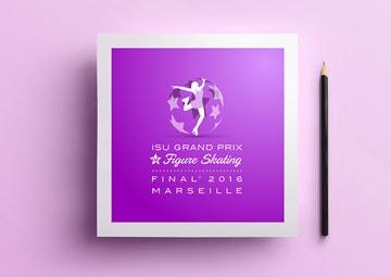 Création du logo d'une compétition internationale patinage artistique : ISU gpfinal © CIMAJINE