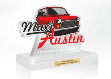 Création d'un trophée en Altuglass pour le magazine Maxi Austin © CIMAJINE
