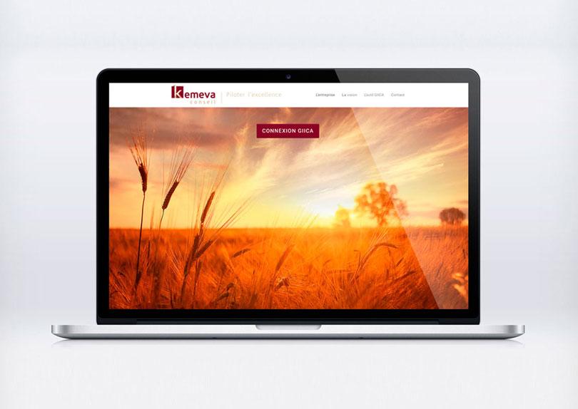 Site internet Kemeva Conseil © CIMAJINE Graphiste St-Nazaire Image