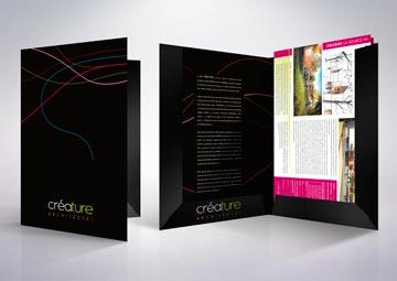 Création d'une chemise à rabats + fiches pour un cabinet d'architectes © CIMAJINE