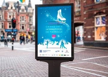 Création de l'affiche du Grand Prix International de patinage 2014 © CIMAJINE