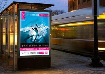 Création de l'affiche du Grand Prix International de patinage 2016 © CIMAJINE