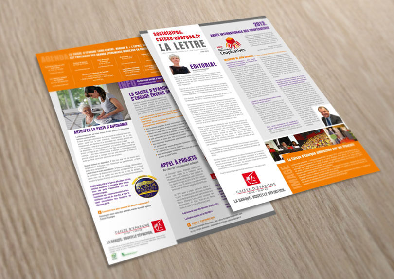 """Création """"Lettre des sociétaires"""" pour la Caisse d'Epargne Loire-Centre © CIMAJINE"""
