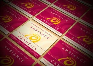 Création logo et cartes de visite pour Ambiance Cannelle © CIMAJINE