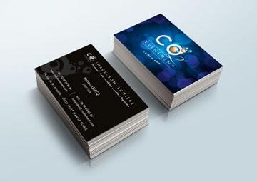 Création logo et cartes de visite pour CO2 événement © CIMAJINE