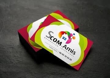 Création logo et cartes de visite pour Scom.Amis © CIMAJINE