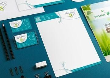 Création logo et charte graphique pour Aphélie © CIMAJINE