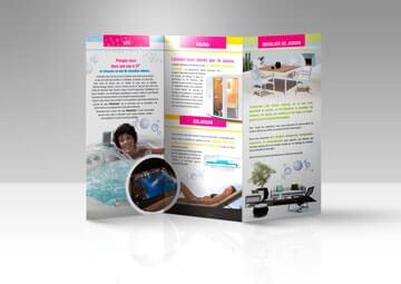 Création d'une plaquette commerciale pour Spa Confort © CIMAJINE
