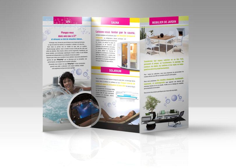 Création plaquette commerciale pour Spa Confort © CIMAJINE