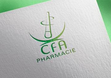 Création du logo du CFA de la Pharmacie de la région Centre © CIMAJINE