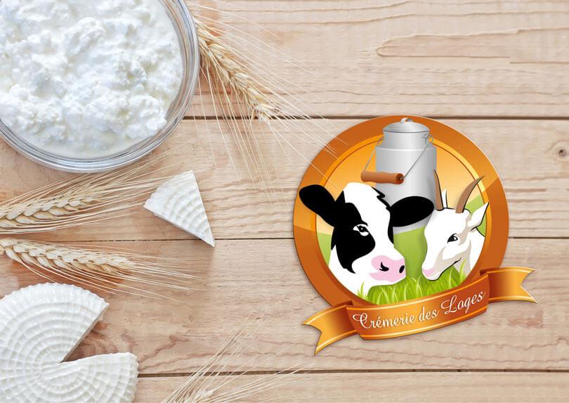 Création du logo pour la Crèmerie des Loges © CIMAJINE