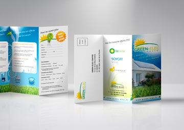 Création d'une plaquette commerciale 3 volets pour Green Elec © CIMAJINE