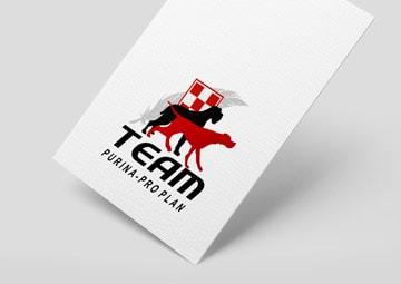 Création du logo Team Purina-Proplan © CIMAJINE