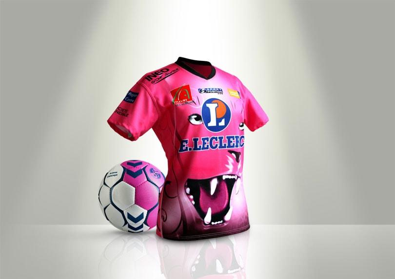 Création du maillot imprimé en sublimation pour le CJF Handball © CIMAJINE