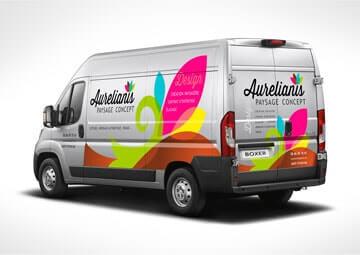 Création identité visuelle pour un paysagiste (logo et marquage véhicule) © CIMAJINE