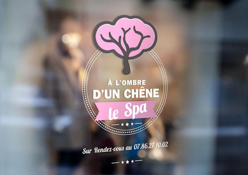 Création de stickers pour A l'ombre d'un chêne © CIMAJINE Communication visuelle – Graphiste St-Nazaire Image