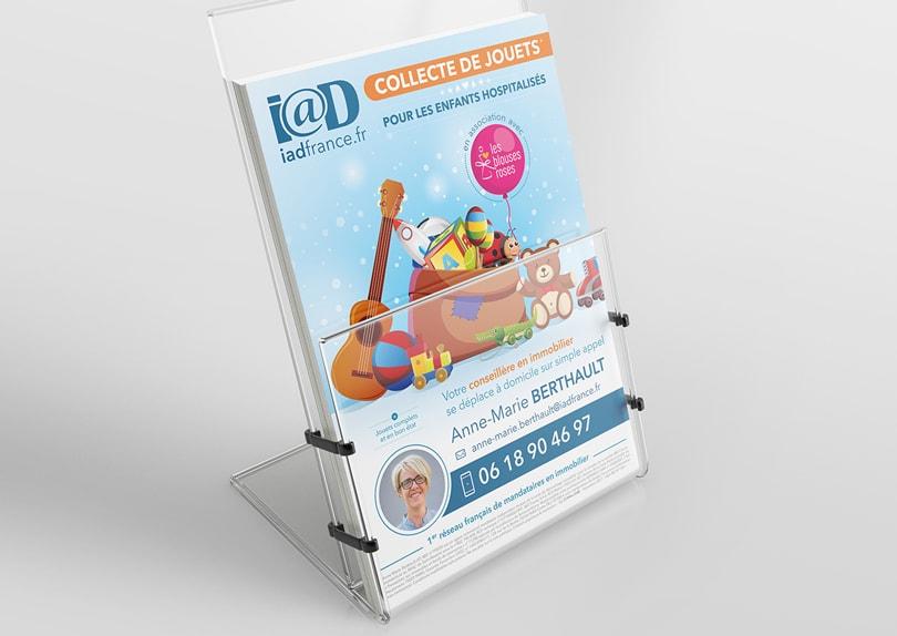Création / Impression de flyers A5 pour des conseillers immobilier IAD France © CIMAJINE Image