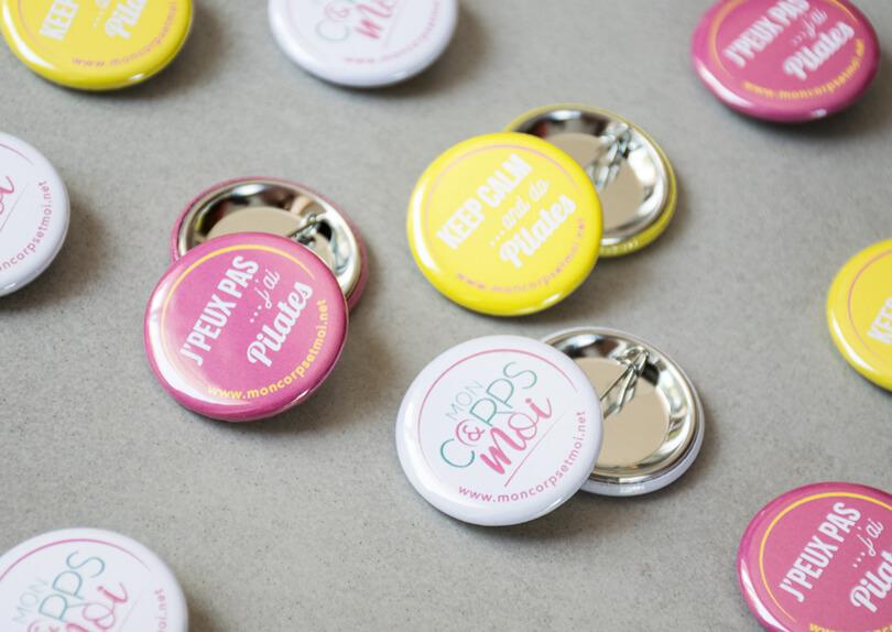 Création / Impression de badges personnalisés © CIMAJINE Image