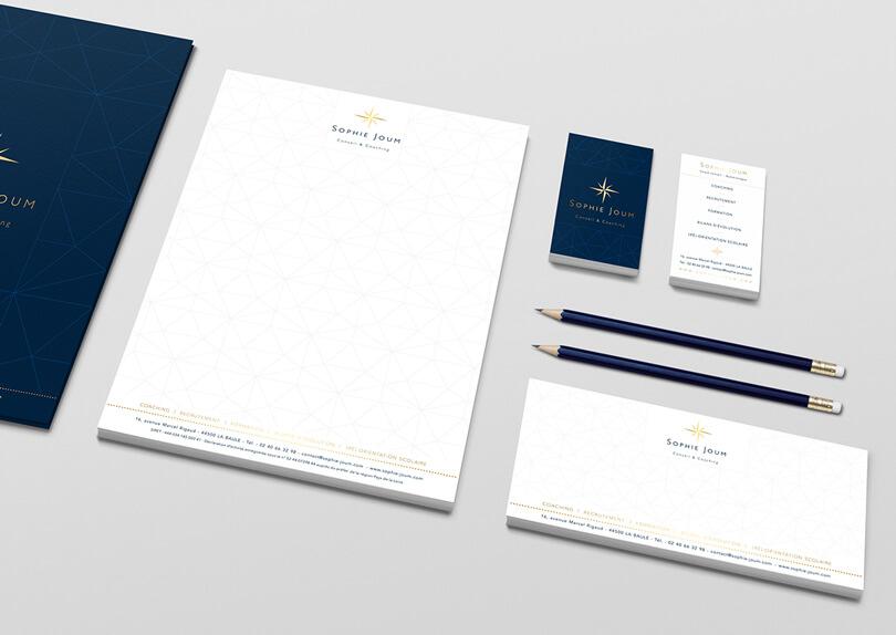 Création charte graphique Cabinet Sophie JOUM © CIMAJINE Graphiste St-Nazaire Image