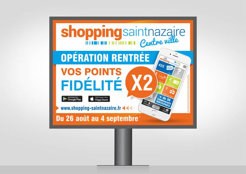 Création graphique panneau publicitaire 4×3 – Association des commerçants Saint-Nazaire Image
