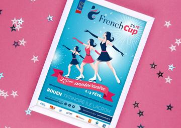 Création affiche French Cup Rouen 2019 (Patinage synchronisé) © CIMAJINE graphiste St-Nazaire