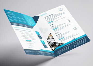 Création d'une plaquette commerciale pour l'entreprise LMG (La Baule) © CIMAJINE