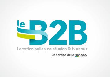 Création du logo le B2B, service de la Sonadev à Saint-Nazaire © CIMAJINE