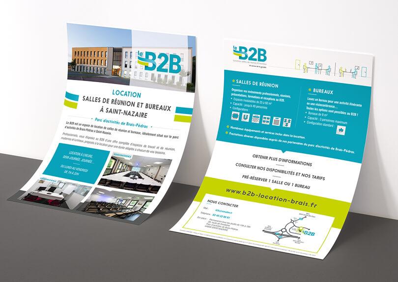 Création Logo – Affiche – Flyer pour Le B2B – SONADEV © CIMAJINE Graphiste St-Nazaire Image