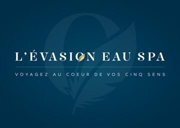 Création identité visuelle (logo) pour L'EVASION EAU SPA © CIMAJINE