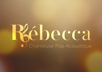 Création Logo - Identité visuelle pour Rébecca Chanteuse professionnelle © CIMAJINE