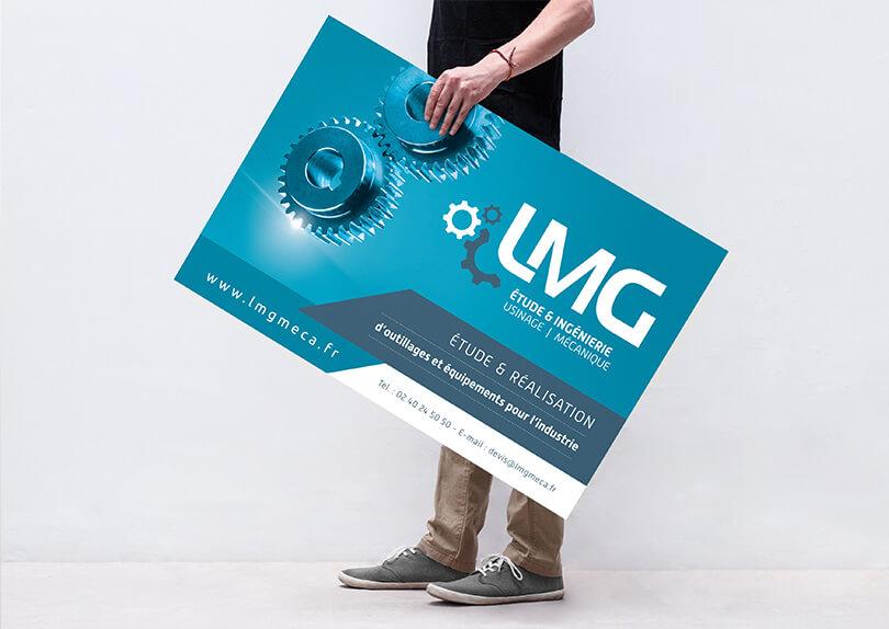 Creation Plaquette Commerciale Cartes De Visite Roll Up Panneau LMG C CIMAJINE