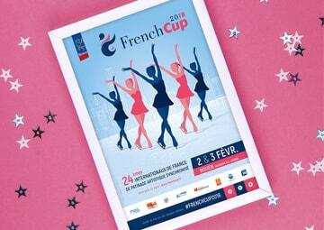 Création affiche French Cup Rouen 2018 Patinage synchronisé © CIMAJINE graphiste St-Nazaire