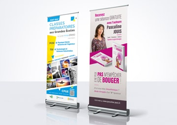 Création impression de roll-up - PLV - Stand expo © CIMAJINE graphiste St-Nazaire