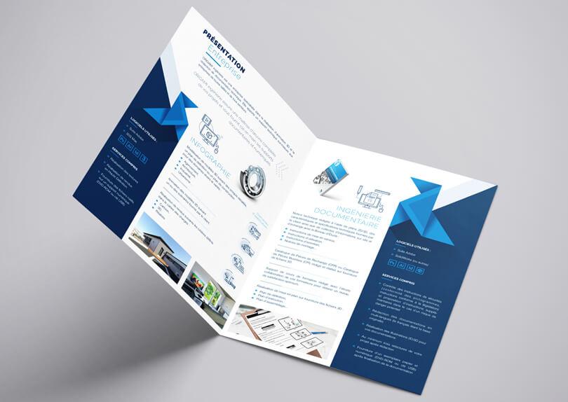 Création logo – plaquette commerciale – cartes de visite – site internet ORIGAMI Ingénierie © CIMAJINE Graphiste St-Nazaire Image