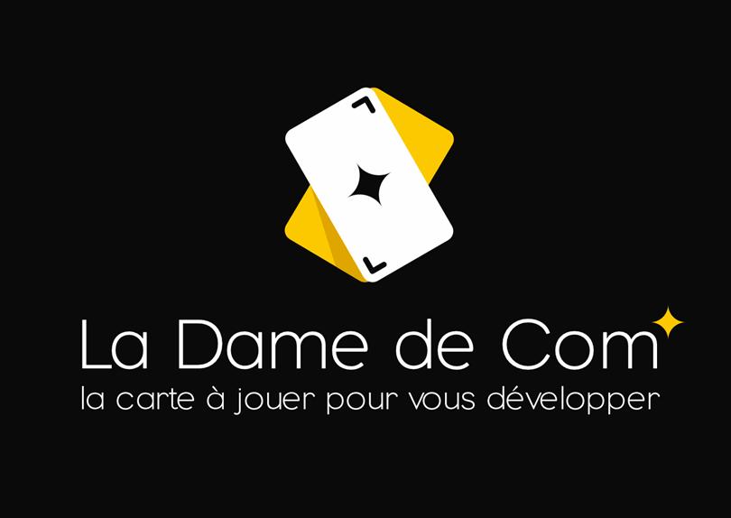Création logo et cartes de visite La Dame de Com' Marketing et communication © CIMAJINE Graphiste St-Nazaire Image
