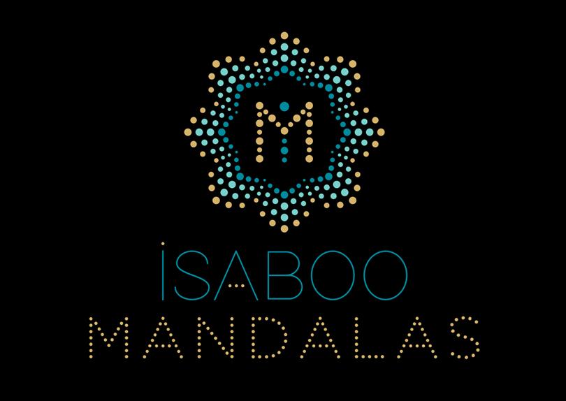 Création logo et cartes de visite vernis 3D Isaboo Mandalas © CIMAJINE Graphiste St-Nazaire Image