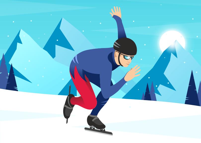 Création d'illustrations de patinage artistique et de vitesse sur glace © CIMAJINE Graphiste St-Nazaire Image