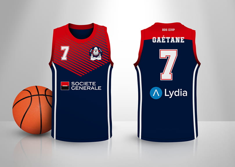 Création de maillots de sport Basket Handball Volleyball Football personnalisés en sublimation © CIMAJINE Image